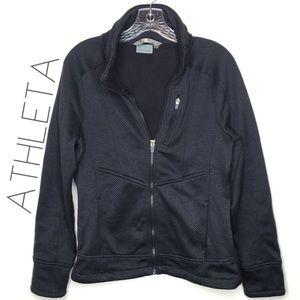Athleta charcoal gray mock zip up sweatshirt M EUC